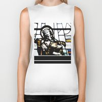 christ Biker Tanks featuring Jesus Christ by miss|melissa
