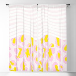 leopard, stripes & everything nice Blackout Curtain