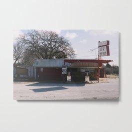 Abandoned Gas Station Metal Print