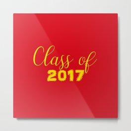 2017 Grads - Red and Yellow Metal Print