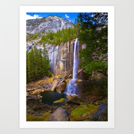 Vernal Falls, Yosemite National Park, Fall 2013 Art Print