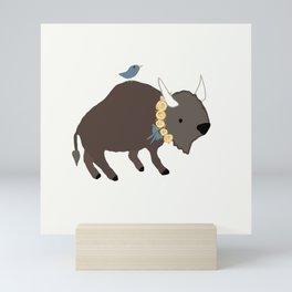 Buffalo Rose Yellow Mini Art Print
