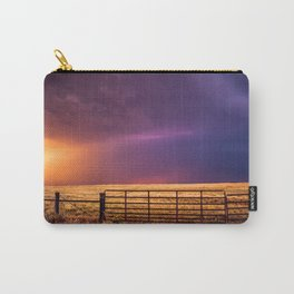 Western Front - Colorful Stormy Sky in Oklahoma Carry-All Pouch