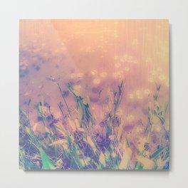 Lotus Pond and Spring Sunshine Metal Print