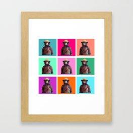 Wise Bear Framed Art Print