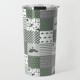 Snake House cheater quilt patchwork wizarding witches and wizards Travel Mug