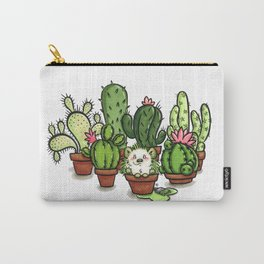 Green - Cactus and Hedgehog Carry-All Pouch