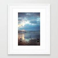 santa monica Framed Art Prints featuring Santa Monica by Kylie Turley