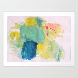 Life in Aqua Art Print