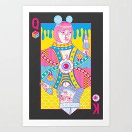 Queen Of Nowhere, King Of Nothing Art Print
