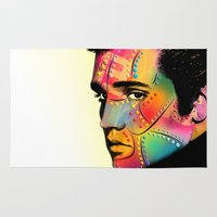 elvis presley Area & Throw Rugs featuring Elvis Presley by mark ashkenazi