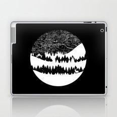 Map Silhouette Circle Laptop & iPad Skin