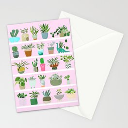 Shelfie cactus print Stationery Cards