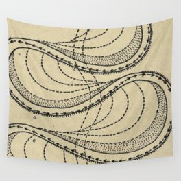 River Formation Diagram Wall Tapestry