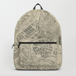 Vintage Map of Vienna Austria (1877) Backpack