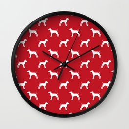 German Shorthair Pointer dog breed pet portraits dog silhouette unique dog breeds Wall Clock