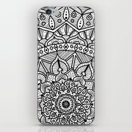 Circle of Life Mandala Black and White iPhone Skin