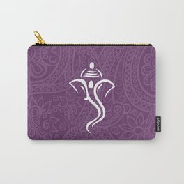 Purple Ganesha - Hindu Elephant Deity Carry-All Pouch