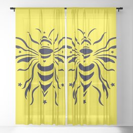 Save the bumblebee by #Bizzartino Sheer Curtain