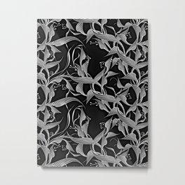Zebra Flower Fantasy Metal Print