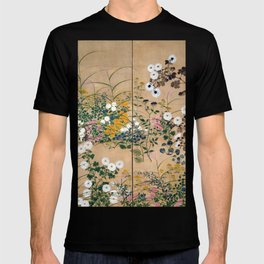Ogata Korin Flowering Plants in Autumn T-shirt