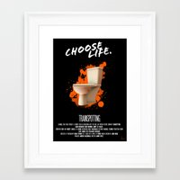 trainspotting Framed Art Prints featuring Trainspotting by Vloh