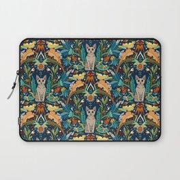 Peterbald cat damask midnight Laptop Sleeve