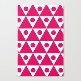 Pink Traingles Canvas Print