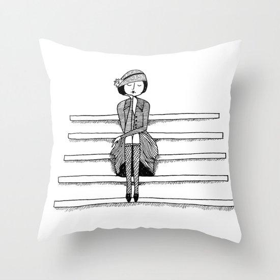 vintage vixen Throw Pillow