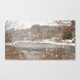 Madawaska in Winter Canvas Print