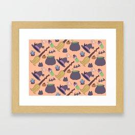Wicked Fun Orange Framed Art Print