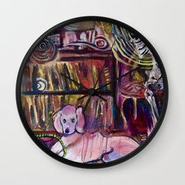 """Magic Poodle Land"" by Lindsay Wiggins Wall Clock"