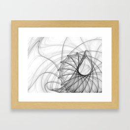 Ink Spirals and Spines Framed Art Print
