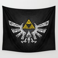 hyrule Wall Tapestries featuring Zelda Hyrule by Art & Be