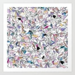 Geometricly Speaking Art Print