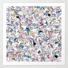Geometricly Speaking Art Print