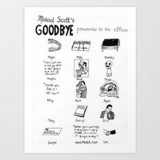 Michael Scott's Goodbye Presents to the Office Art Print