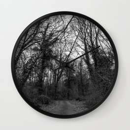 Monochromatic forest path Wall Clock