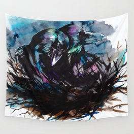 Two Ravens Wall Tapestry