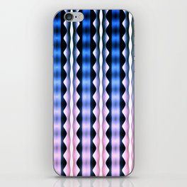Pink Blue Verticals iPhone Skin