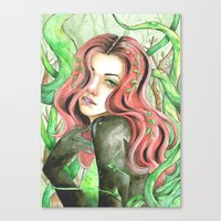 poison ivy Canvas Prints featuring Poison Ivy by Mitch Antonio