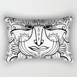 Flower spirit / Black and white Rectangular Pillow