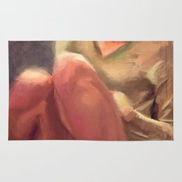 Nude Young Woman In Socks Rug
