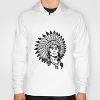 headdress Hoodies featuring Headdress by Gregg Deal