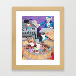 The Crabs In the Barrel Framed Art Print
