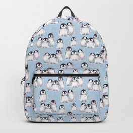 Penguin pattern on blue Backpack
