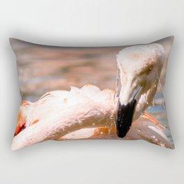 #Flamingo a #big #bird #loves to #swim Rectangular Pillow