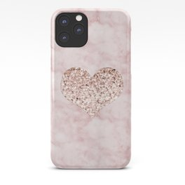 Rose gold - heart iPhone Case