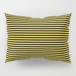 Even Horizontal Stripes, Yellow and Black, XS Pillow Sham