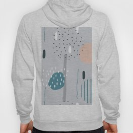 Geometric Abstract Doodling Pastel Colors Hoody